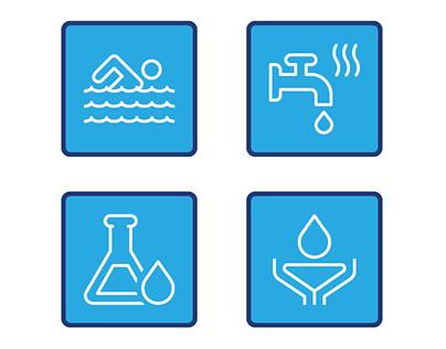 Aqualogic Water Treatment Website Icons