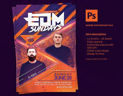 EDM Music Event Flyer Template