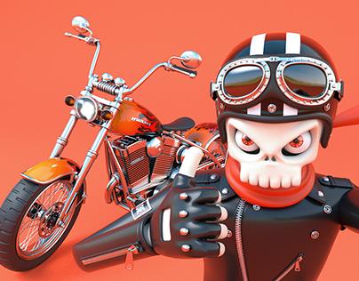 BONEZ, The Skull Rider