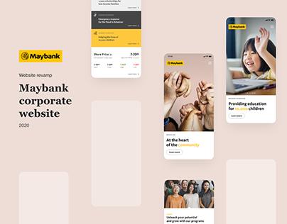 Maybank   Website Revamp