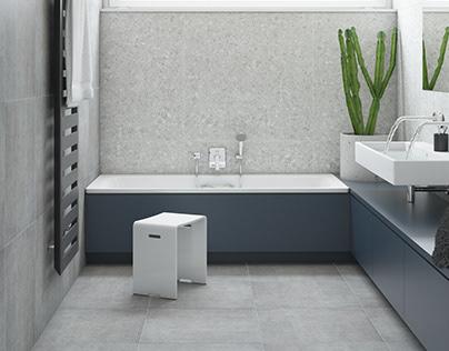 Bathroom #terazzo #concrete
