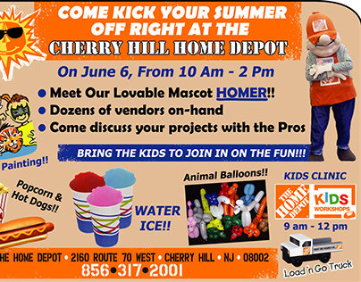 Home Depot Events - workshops - specials