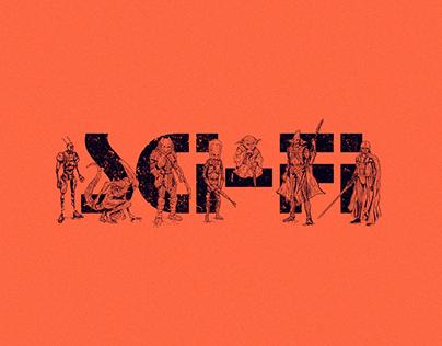 36 Days of Type: Sci-fi
