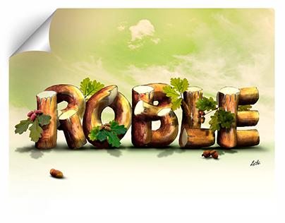 Roble - Ilustración, dibujo, pintura, lettering