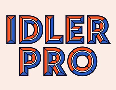 Idler Pro Font Design