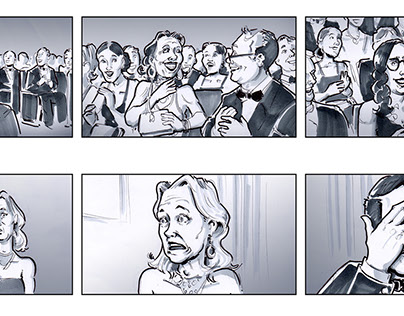 Some Storyboards for TVCs with fineliner copic marker
