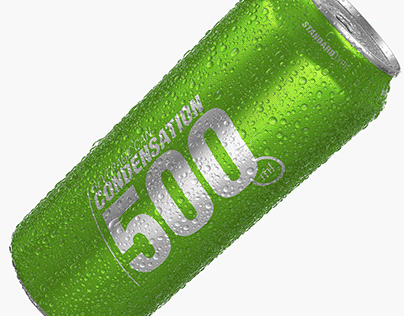 Standard beverage can with water condensation
