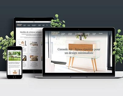 WordPress website design for Romuald Fleury
