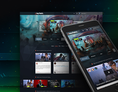 Playfield.io | Gaming Platform | Website Design