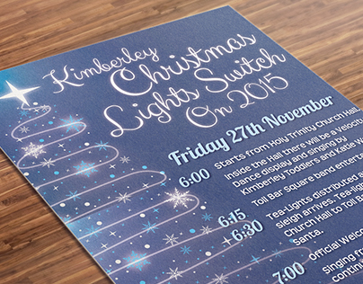 Kimberley Christmas Lights Switch On Poster