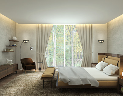 Bedroom with Italy furniture