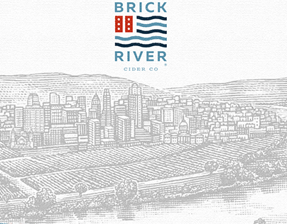Brick River Cider Packaging Illustrated by Steven Noble