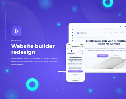 Website builder product redesign