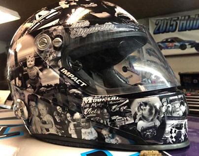 Photo Montage Racing Helmet