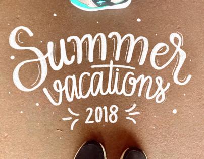 Summer vacations lettering