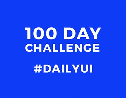 100 Day Challenge   DailyUI WIP