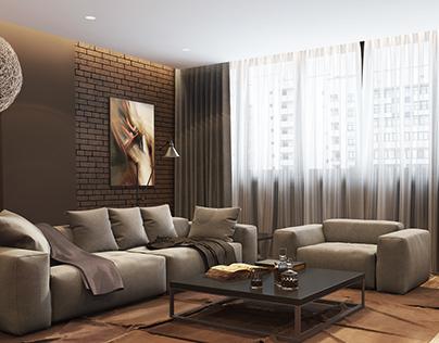 Living room in 44 Ap.