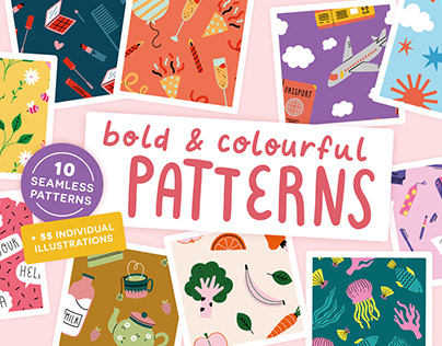 Colourful Seamless Patterns on Creative Market
