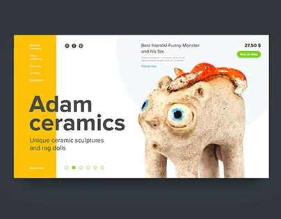 Adam ceramics - personal site