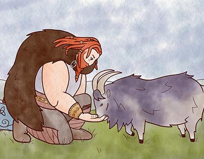Thor and Tanngnjóstr