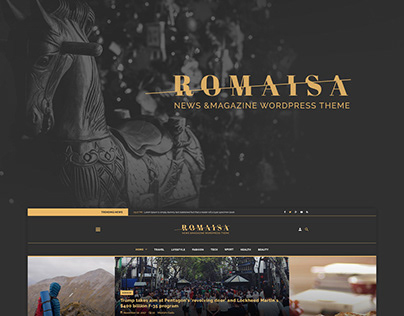 Romisa News & Magazine PSD Template