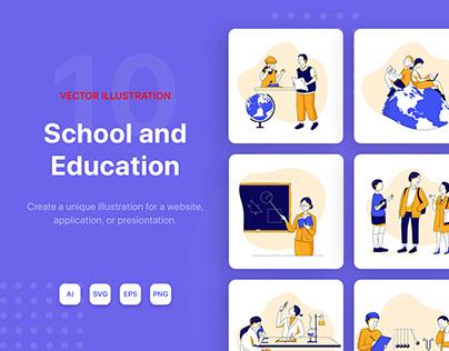 School & Education Illustrations