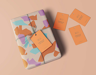 Free Wrapped Gift Mockup
