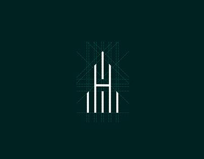 H letter logo - Real Estate logo - H logo design