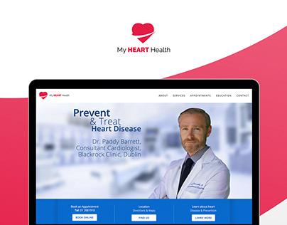 My Heart Health UI/UX Web Design