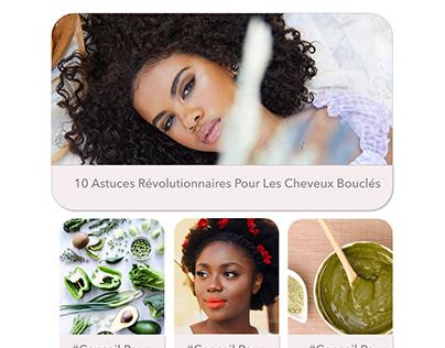 Redesign de la page internet Ma coiffure Afro
