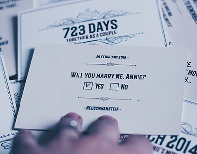Marriage Proposal via Infographic Cards