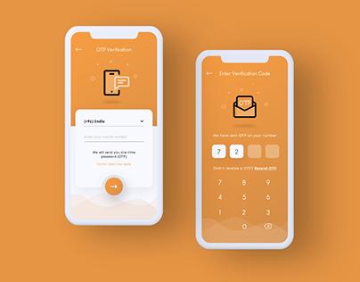 OTP Screens UI Design