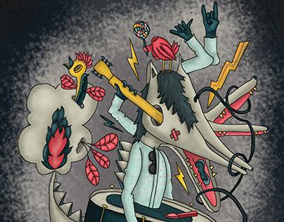 Illustration for magazine. Ana Isabel Gil