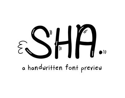 SHA - A Handwritten Font Preview
