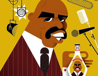 Steve Harvey for the Hollywood Reporter