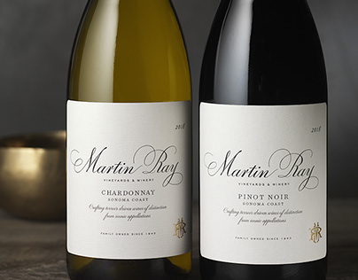 Martin Ray Vineyards & Winery Packaging Design & Logo