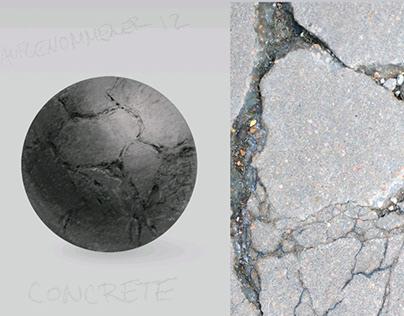 Concrete ball Illustration