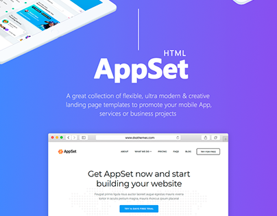 AppSet - App Landing Pages Pack