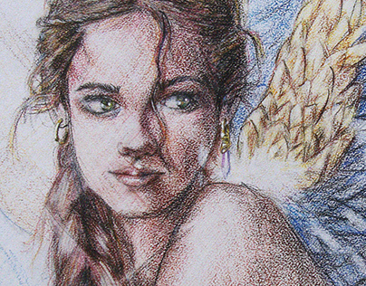 Girl with Harpy Eagle 2