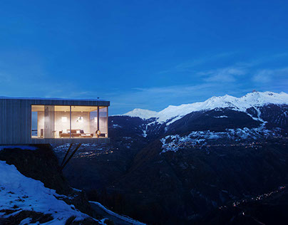 SUISSE. MOUNTAIN HOUSE.