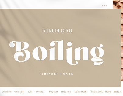 Boiling Typeface
