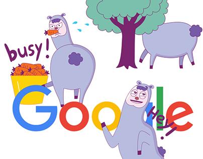 Google Allo Sticker: Drama Llama