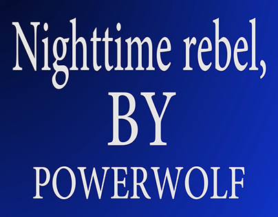 Nighttime rebel-Powerwolf with lyrics