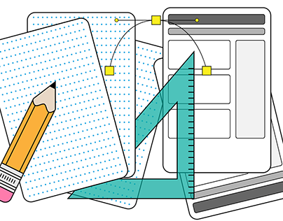 Web and User Interface Design Spot Illustrations