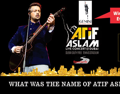Atif Aslam Concert Facebook Campaign