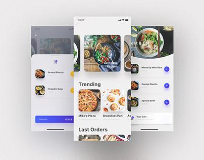 Food teaser - Mobile App UI/UX Mocks