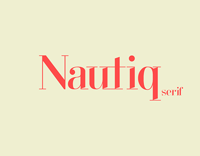 Nautiq Serif Typeface - The fashion type