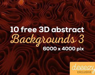 10 Abstract 3D Backgrounds 3 - FREEBIE