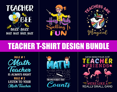 Best Teacher T-Shirt Design Bundle