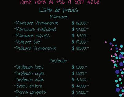 lista de precios Menta&Ko